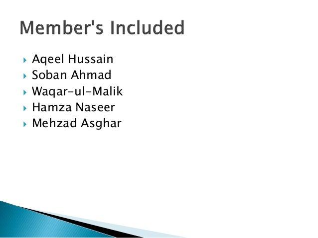  Aqeel Hussain  Soban Ahmad  Waqar-ul-Malik  Hamza Naseer  Mehzad Asghar