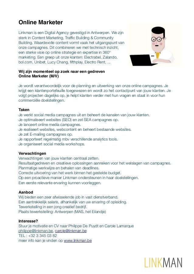 Online Marketer Linkman is een Digital Agency gevestigd in Antwerpen. We zijn sterk in Content Marketing, Traffic Building ...
