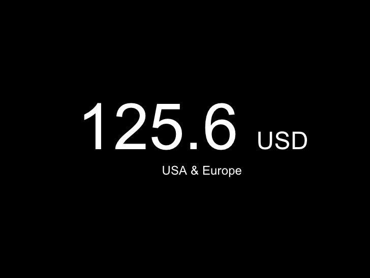 125.6  USD USA & Europe