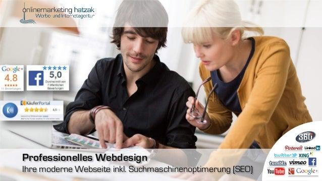 Professionelles Webdesign Ihre moderne Webseite inkl. Suchmaschinenoptimerung (SEO)