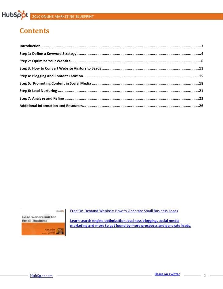 Online Marketing Blueprint Slide 2