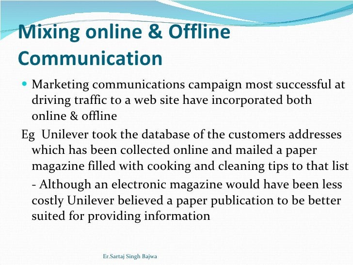 Mixing online & Offline Communication <ul><li>Marketing communications campaign most successful at driving traffic to a we...