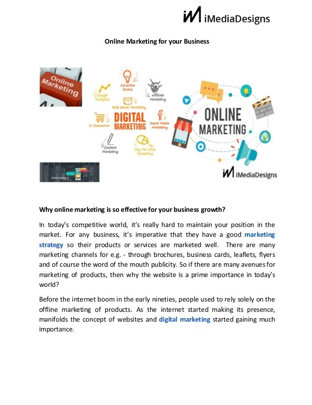 Online Marketing for your Business Why online marketing is so effective for your business growth...