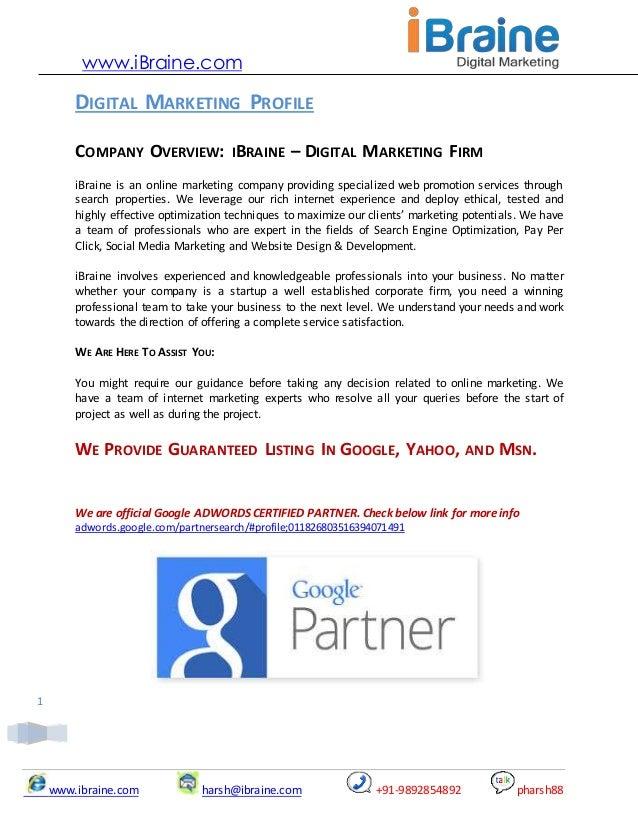 online marketing proposal pdf