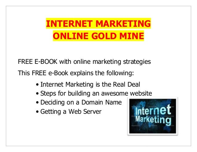 INTERNET MARKETING IS THE REAL DEAL