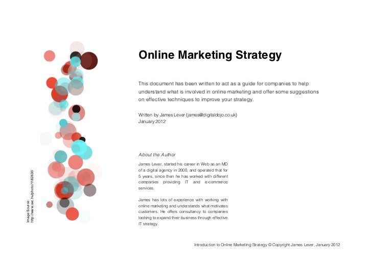 Online Marketing Strategy                                                                       This document has been wr...