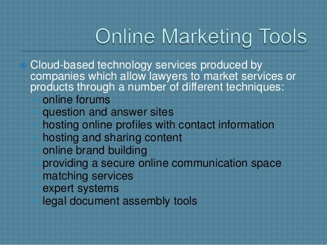    Developed by companies that wish to sell different    forms of legal services to the public, such as legal    document...