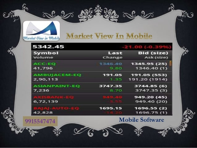 commodity market live rates software free