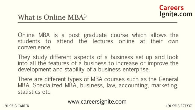 Online MBA Courses, Colleges, Eligibility Slide 2