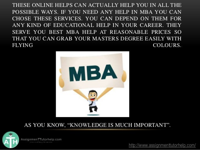 MBA Assignment help in USA     MBA