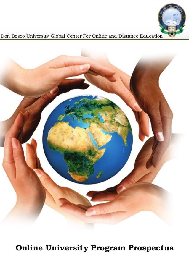 Program Brochure Online University Program Prospectus Don Bosco University Global Center For Online and Distance Education