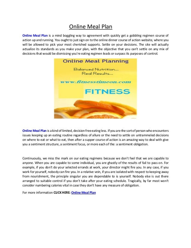 meal planning online