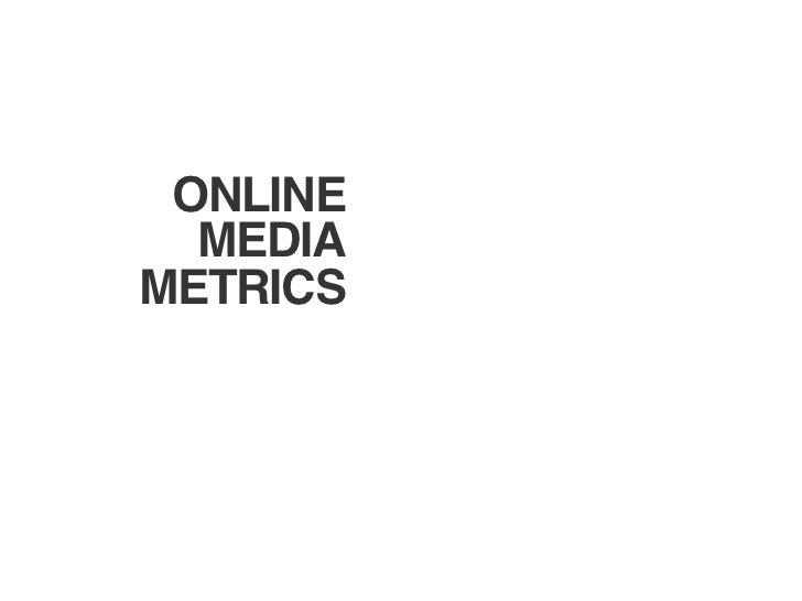 ONLINE  MEDIAMETRICS