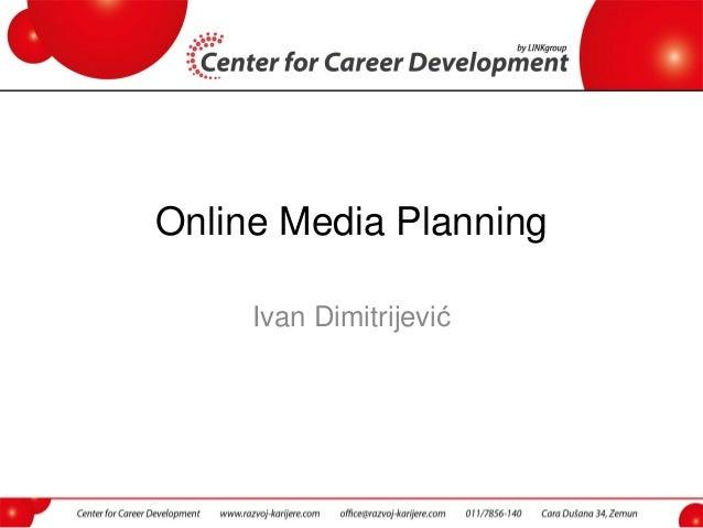 Online Media Planning Ivan Dimitrijević