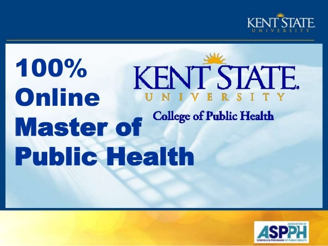 100% Online Master of Public Health