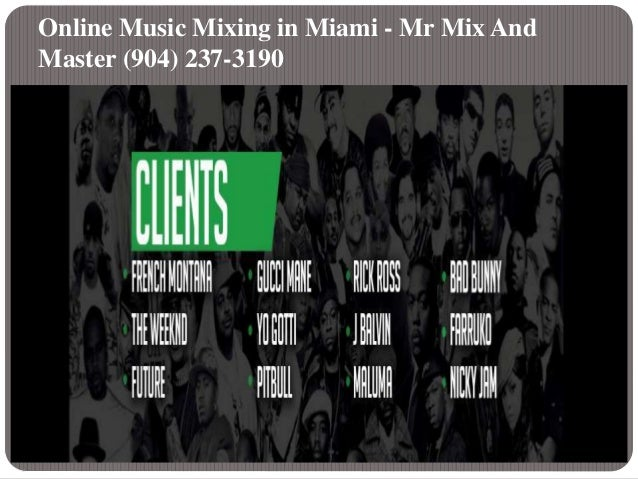 Online Mixing And Mastering in Miami