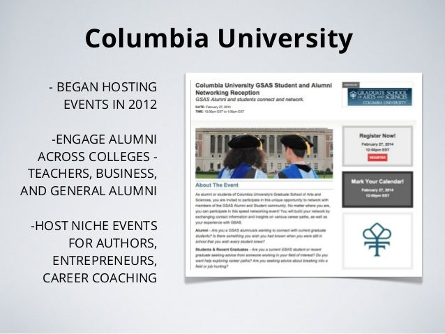 Online Networking Events for Students and Alumni