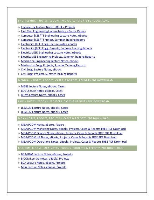 Mba finance project reports pdf | free mba finance project reports.