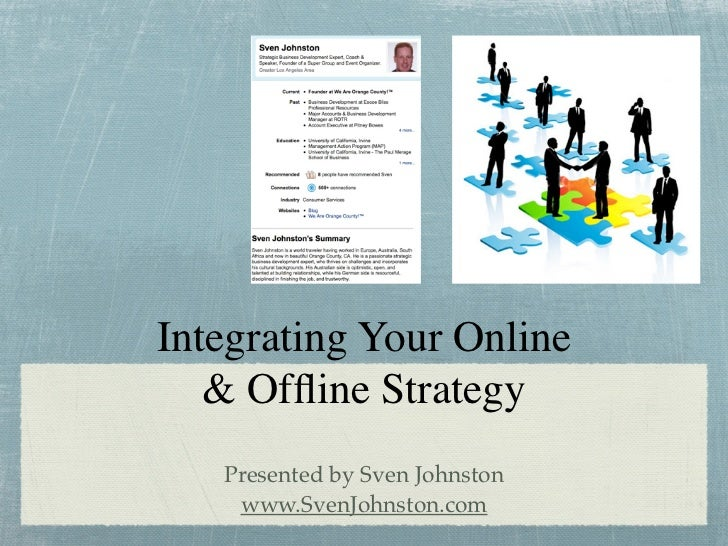 Integrating Your Online    & Offline Strategy    Presented by Sven Johnston     www.SvenJohnston.com
