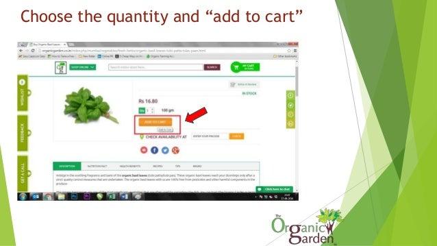 "Check ""my cart"" – Run the cursor over the green button (my cart)"