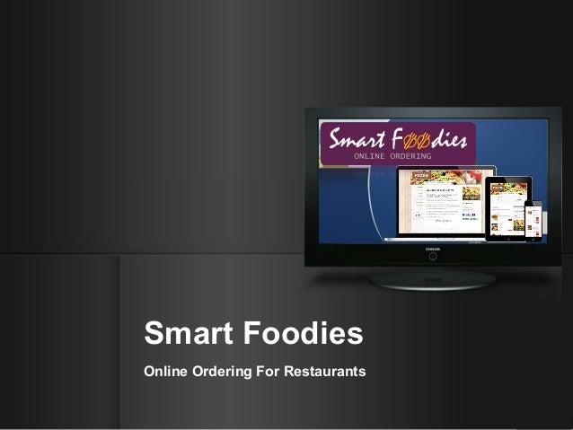 Smart Foodies Online Ordering For Restaurants