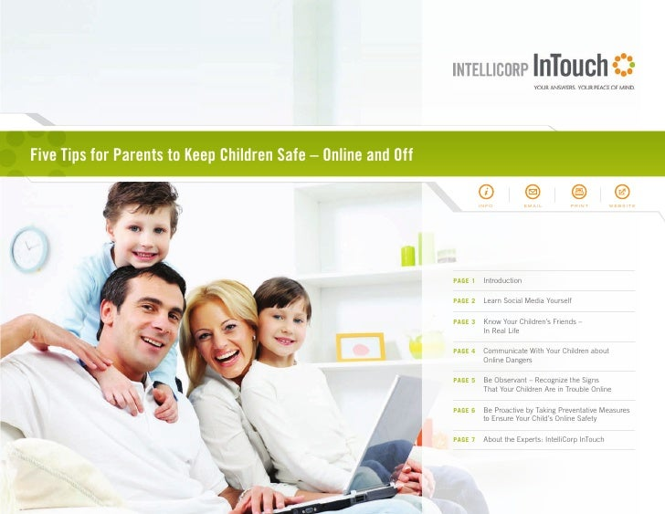 Five Tips for Parents to Keep Children Safe – Online and Off                                                              ...
