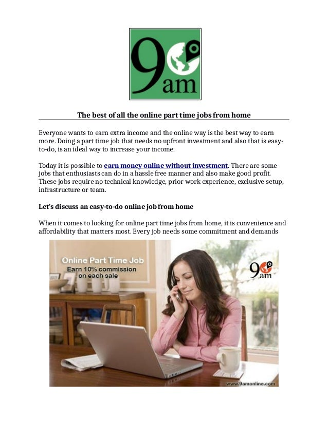 no investment part time job work from home in :: nterwerreve cf