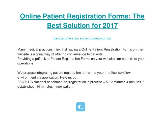 Online Patient Registration Forms The Best Solution For
