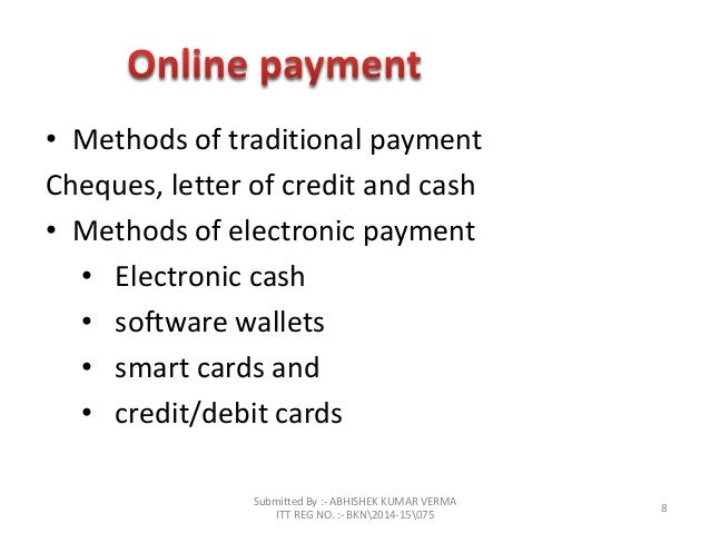 credit card based electronic payment system