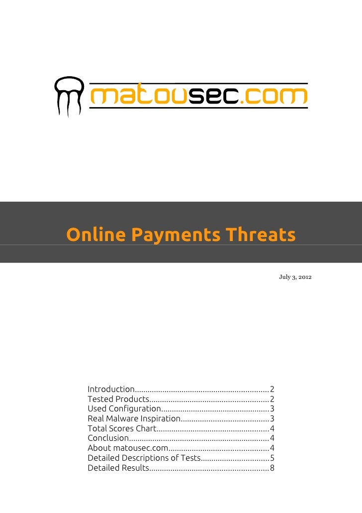Online Payments Threats                                                                                  July 3, 2012  Int...