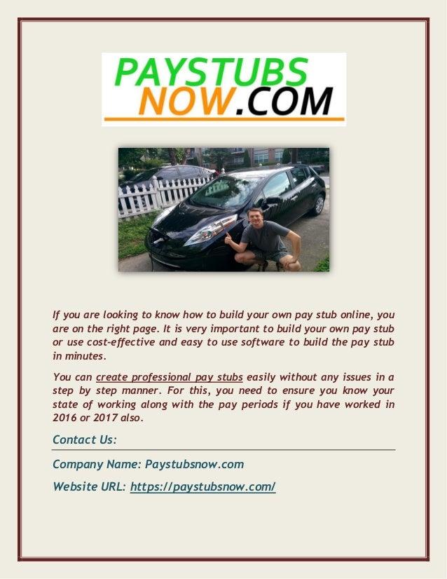 Best Online Payroll Pay Stub Generator Tool