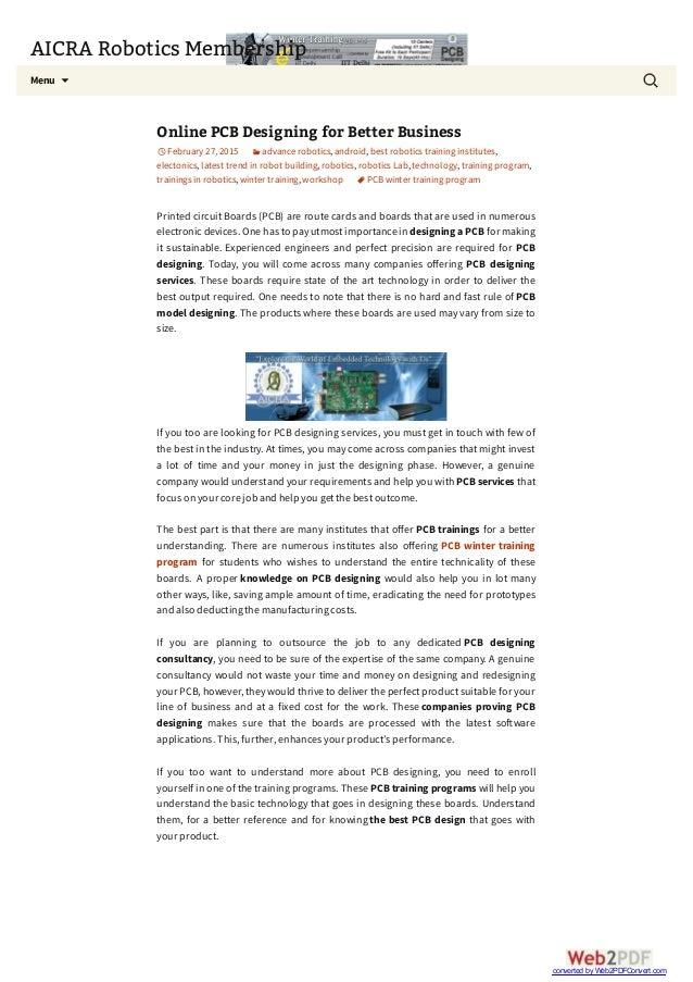 Online PCB Designing for Better Business