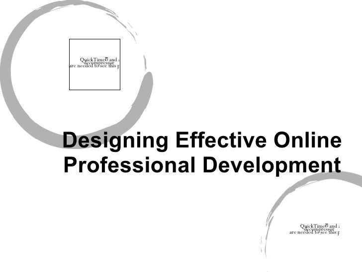 Designing Effective Online Professional Development