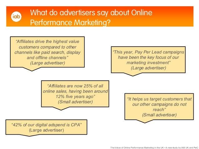 Performance marketing study