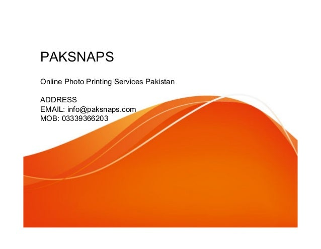 Online Photo Printing Services Pakistan
