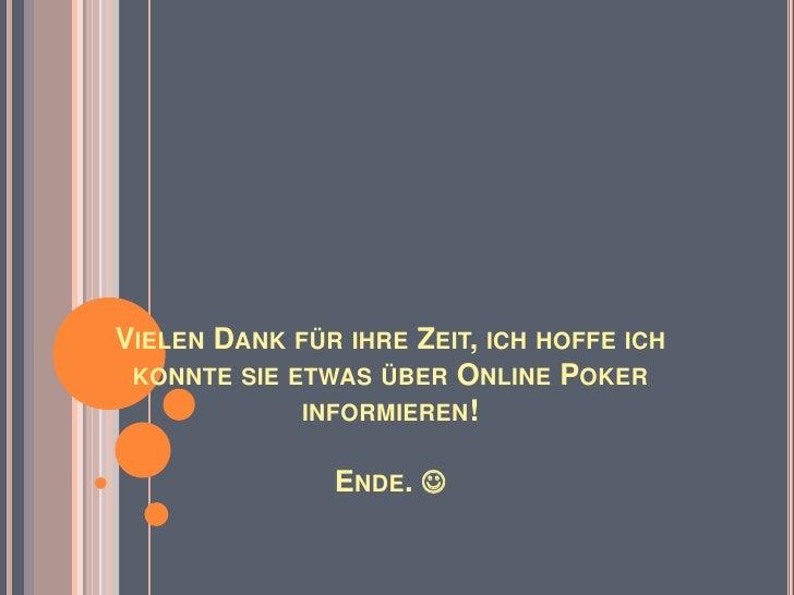 Online Poker - Just great!