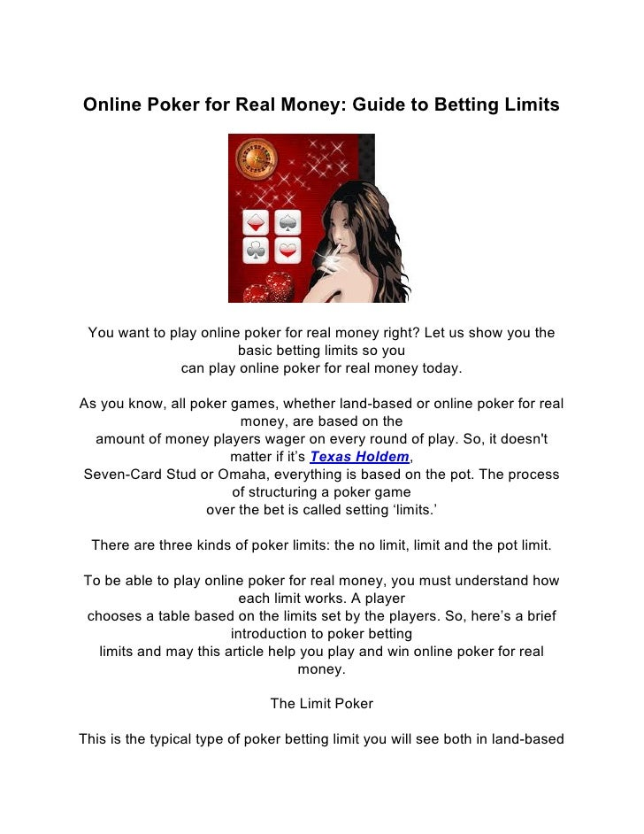 guide to poker betting limits