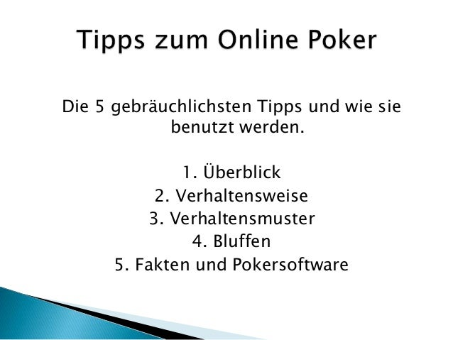 Online Poker Tipps Slide 3