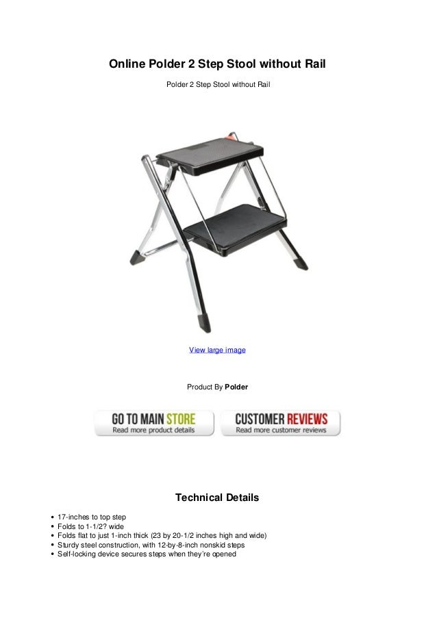 Online Polder 2 Step Stool Without Rail