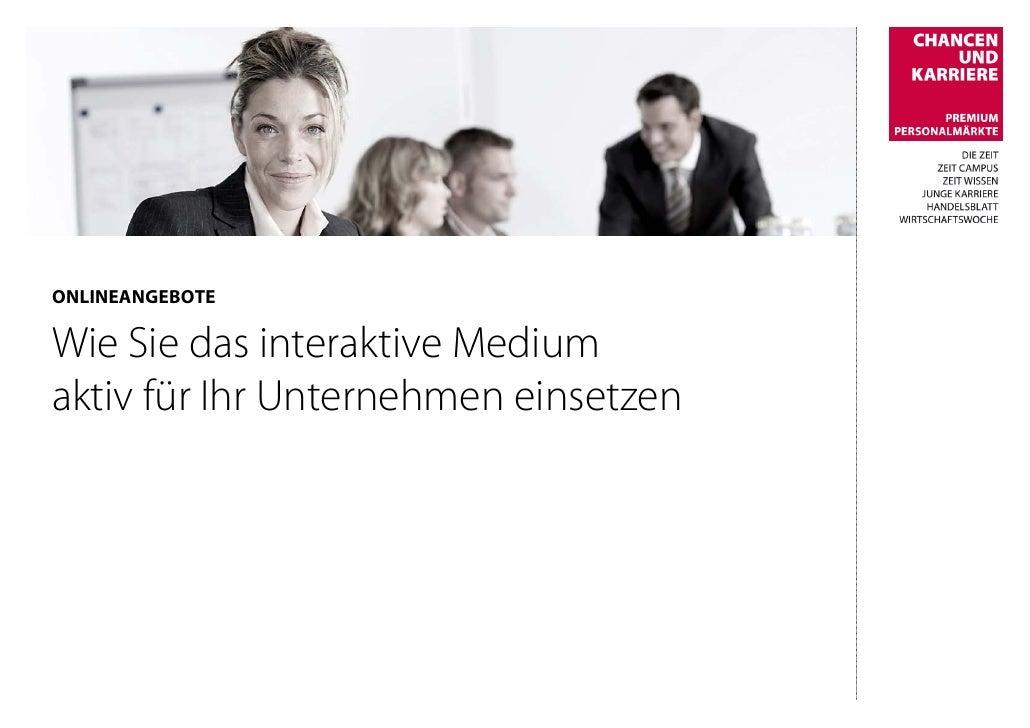 ONLINEANGEBOTE  Wie Sie das interaktive Medium aktiv für Ihr Unternehmen einsetzen