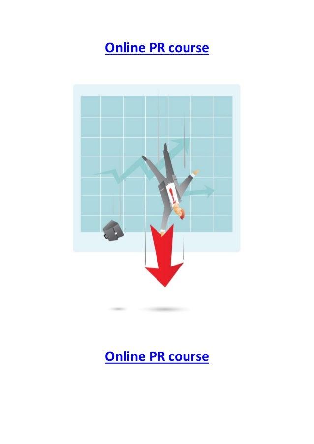 Online PR course  Online PR course