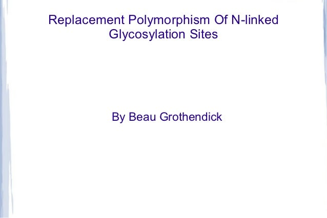 Replacement Polymorphism Of N-linked        Glycosylation Sites         By Beau Grothendick