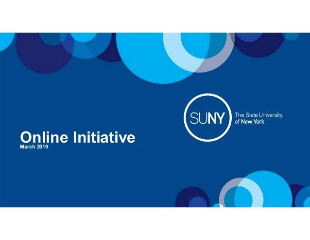 Online InitiativeMarch 2019 1