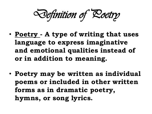 Definition For Poems 5