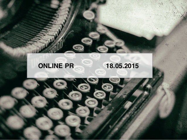 ONLINE PR 18.05.2015