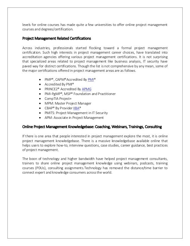 Best Online Project Management Certification Choice Image Creative