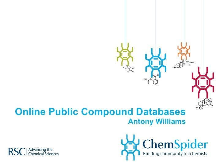 Online Public Compound Databases Antony Williams
