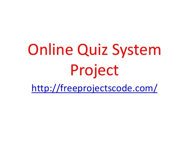 Online Quiz System Project PPT