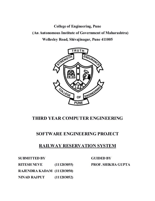 College of Engineering, Pune (An Autonomous Institute of Government of Maharashtra) Wellesley Road, Shivajinagar, Pune 411...