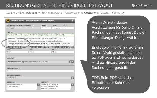 Online Rechnung